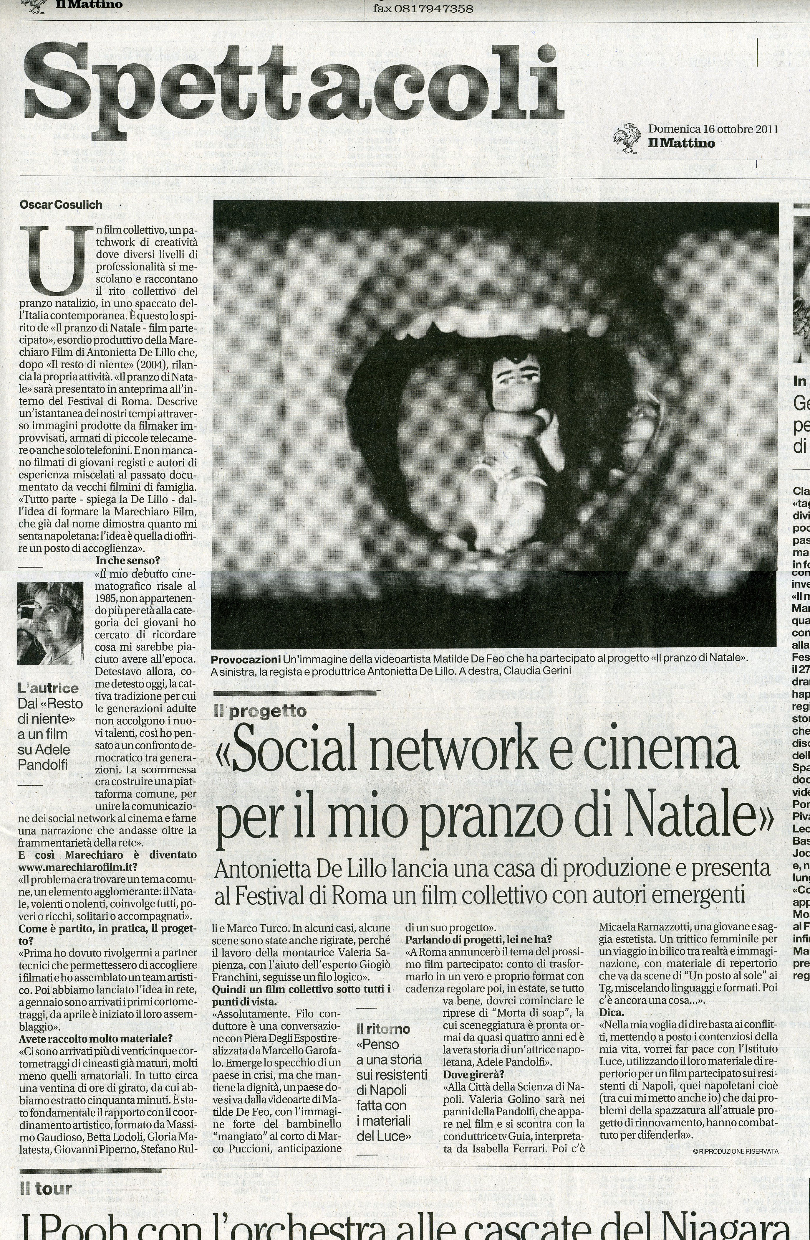 2011 - 16 OTTOBRE IL MATTINO