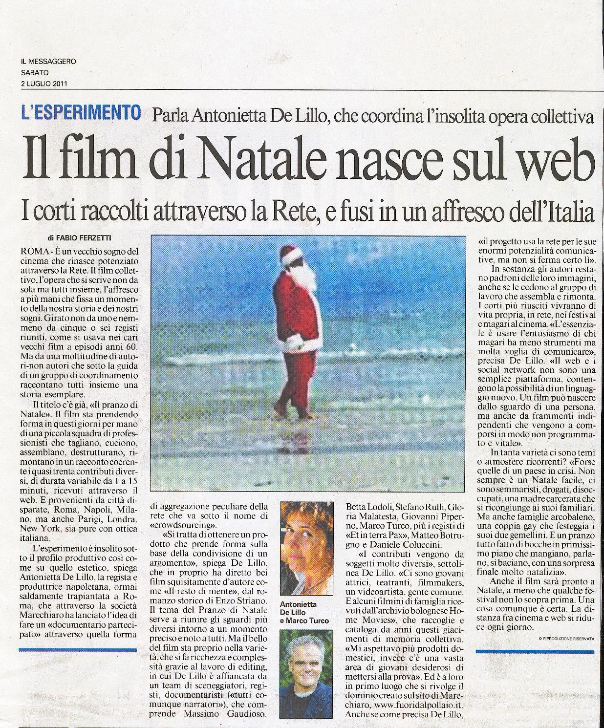 2011 - 2 LUGLIO FERZETTI IL MESSAGGERO