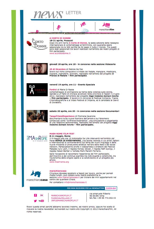 Newsletter APRILE 2013
