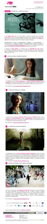 Newsletter IL RESTO DI NIENTE ottobre 2015