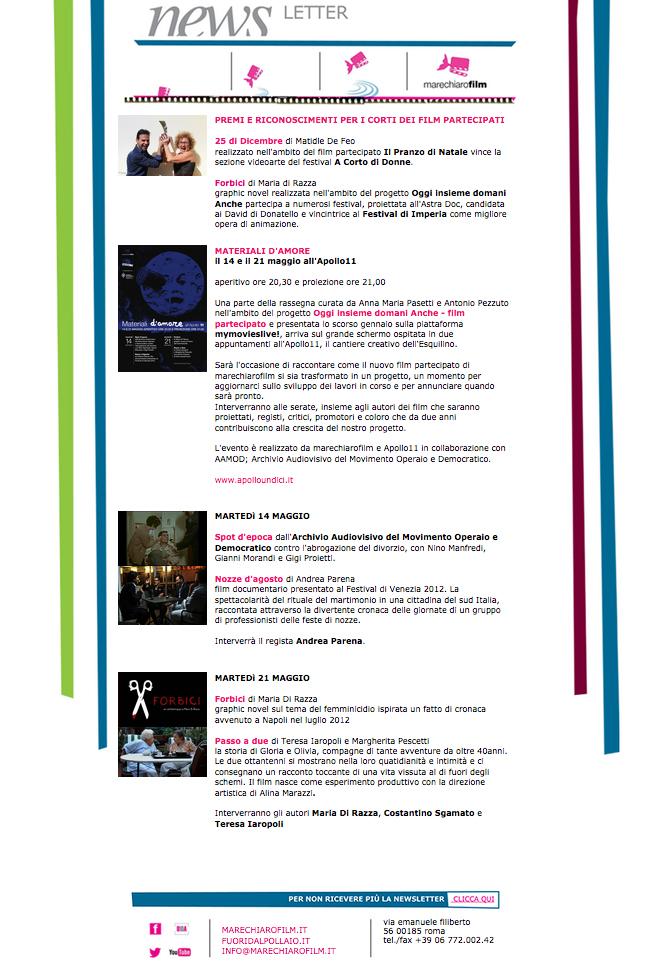 Newsletter MAGGIO 2013